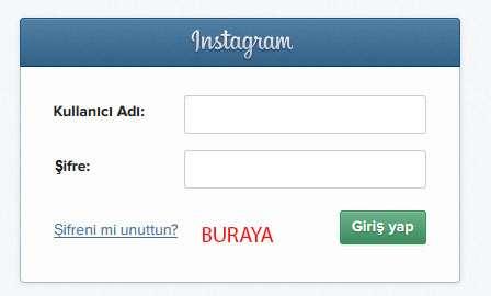 instagram-sifremi-unuttum