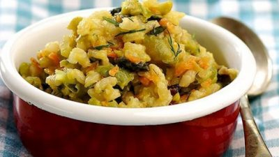 Sebzeli Kepekli Pirinç Pilavı