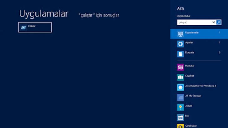 Windows 8 Çalıştır Komutları ve Parametreleri