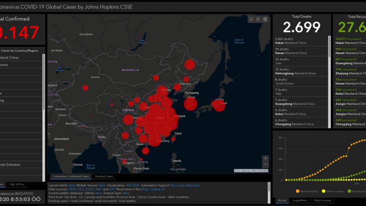 Coronavirus / Koronavirüs (2019-nCoV Covid-19) Haritası ve İstatistikleri (live-canlı)