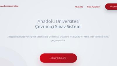 AÖF Online Sınav Giriş Ekranı