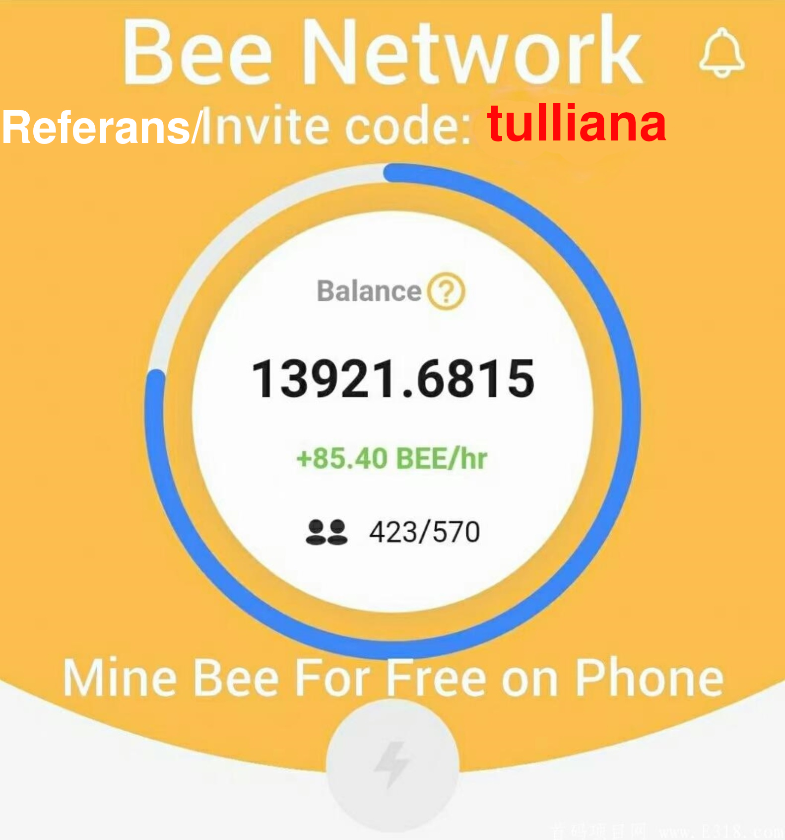 bee network invite referans
