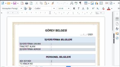 E-Devlet çalışma izin belgesi başvuru ekranı